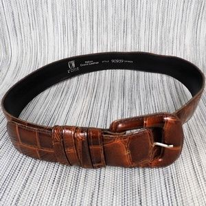 Clifford & Wills Italian Croco Leather Belt Sz S